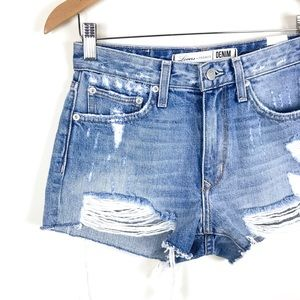 Lovers + Friends Shorts - Lovers + Friends Jack High-Rise Distressed Shorts